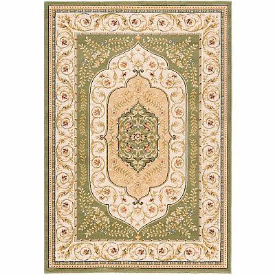 Persian elegant carpet 'Green Kashan' rug