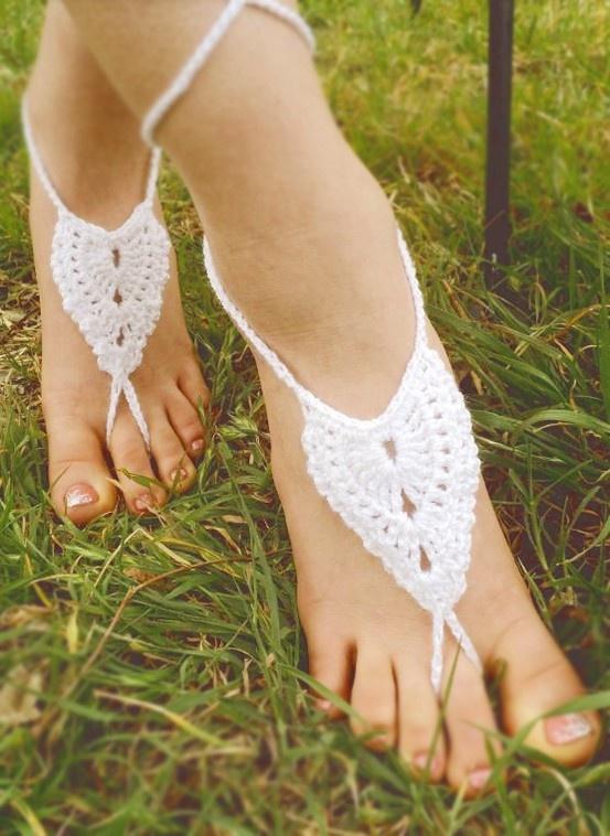Crochet Sandals Pattern - super cute for the beach