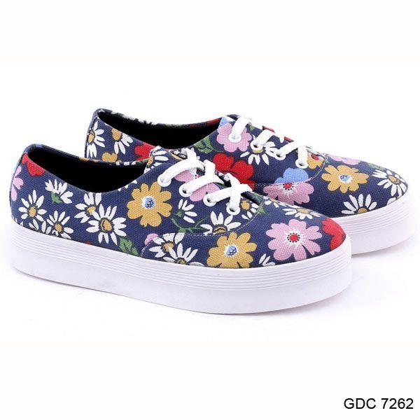 Sepatu Kets Wanita Gdc 7262 Canvas Garucci Shoes Sepatu Kets
