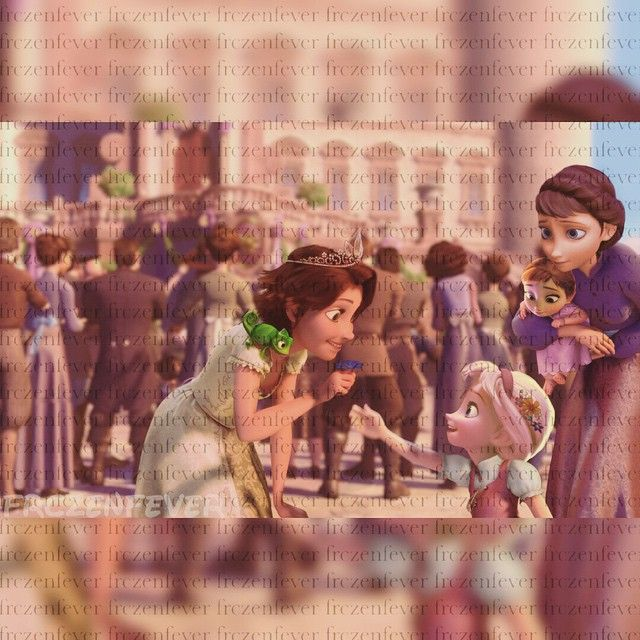 WAIT is that supposed to be Anna and Elsa!!--> only in this picture guys, NOT IN THE MOVIE