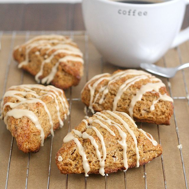 Gingerbread Scones with Maple Glaze by Tracey's Culinary Adventures