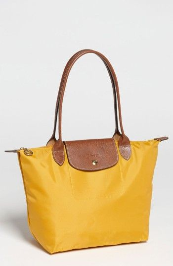LONGCHAMP  SMALL LE PLIAGE  SHOULDER TOTE - YELLOW.  longchamp  bags   leather  hand bags  nylon  tote   06c5e218b2af2