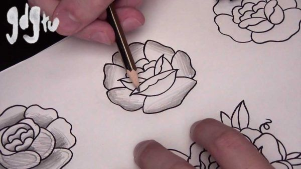How to Draw Basic Traditional Rose Tattoo Designs by a Tattoo Artist – Hildur.K.O
