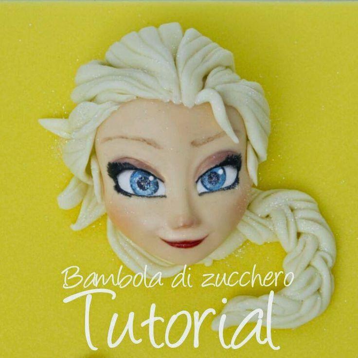 El hada de los cuentos: Tutorial Elsa de Frozen para Fimo, Fondant y Porcelana Fría.