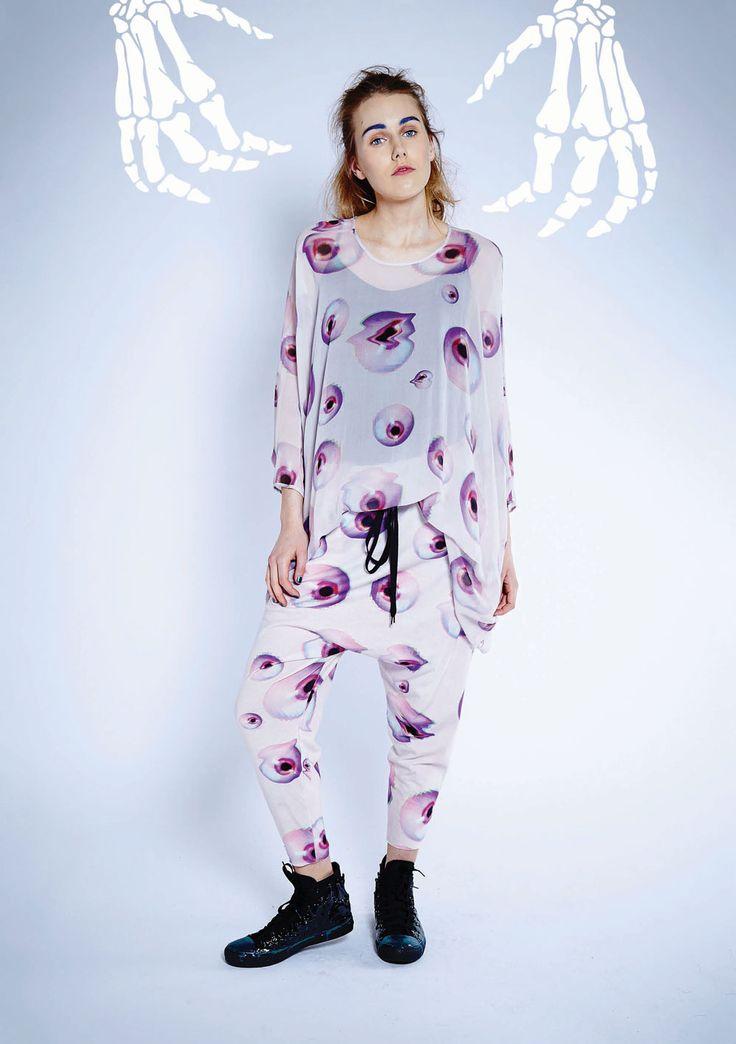 Maaike Clothing | New Zealand Peepers Dress - Eyeball Print Photo Pant - Eyeball Print