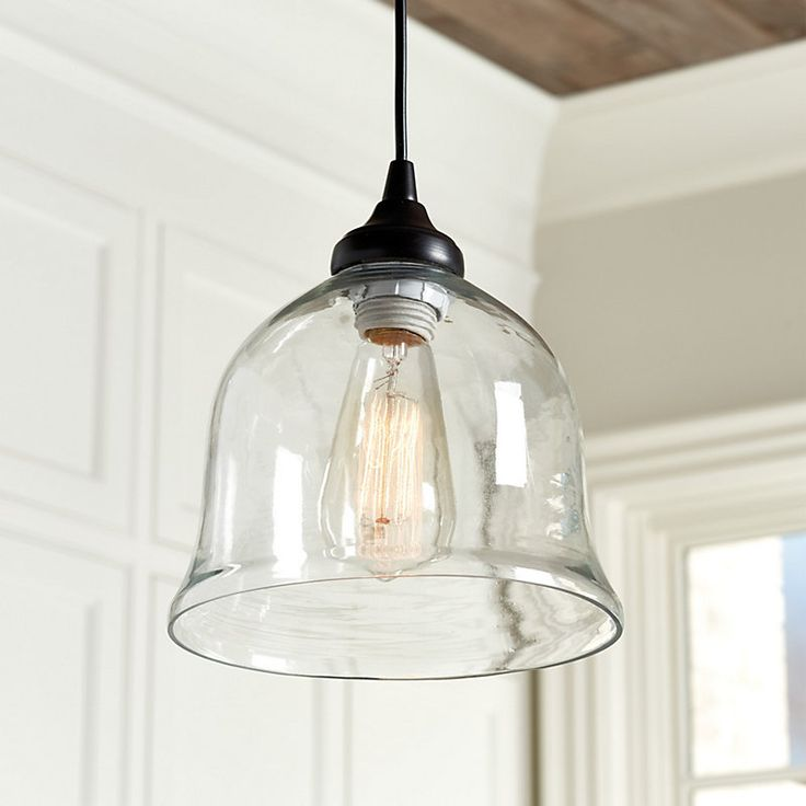 Clear Glass Bell Pendant Shade   Pendant Adaptor