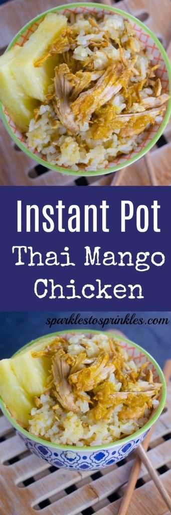 This instant Pot Thai Mango Chicken is AMAZING!!! No need for take-out ever again! Pin for Later! #takeout #instantpot #thai