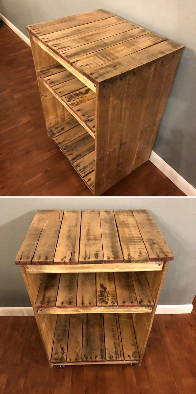 35 Wonderful Wood Pallet Shelves Ideas For Home Pallet Side Table Wood Pallets Pallet Wood Shelves