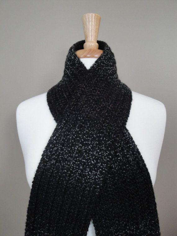 Soft Knit Scarf Black Multi by KnotYourAvgKnits on Etsy, $20.00