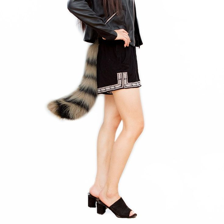 2017 New 50cm Tails Fur Imitation Fox Tail Novetly Ladies Cosplay Costume Props Solid Adjustable Strap Cosplay Tail Toy 7Colors