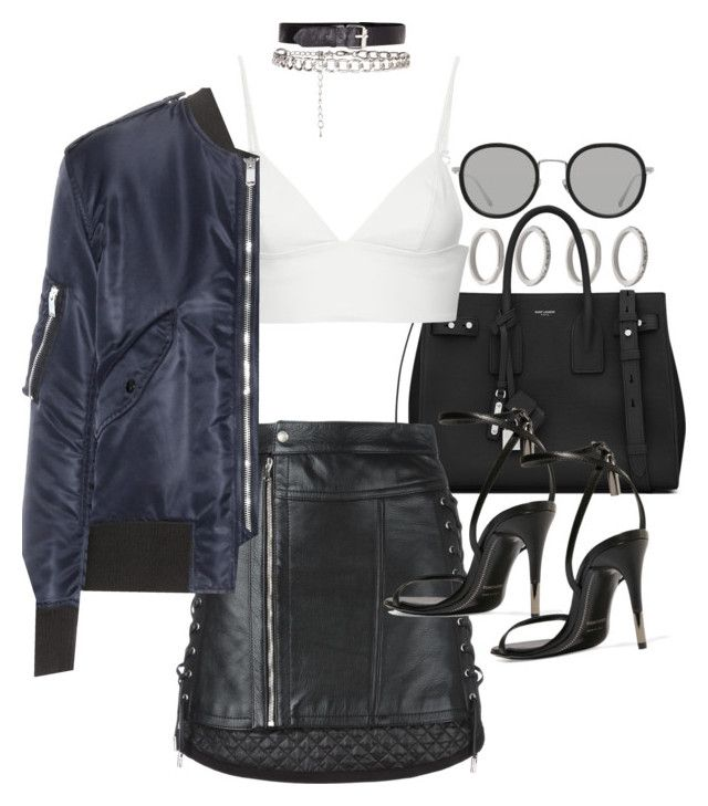 """Untitled #21149"" by florencia95 ❤ liked on Polyvore featuring Forever 21, Yves Saint Laurent, Diesel Black Gold, Tom Ford, T By Alexander Wang and Linda Farrow"