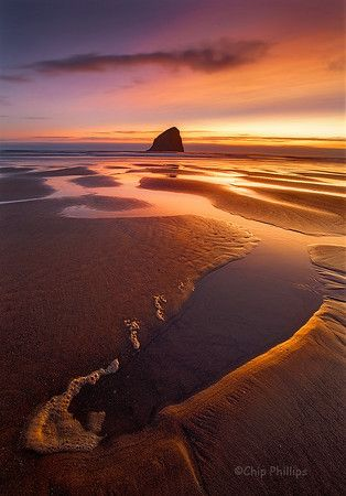 """""""Pacific City Sunset""""    A beautiful summer sunset out front of Pacific City on the Oregon Coast."""