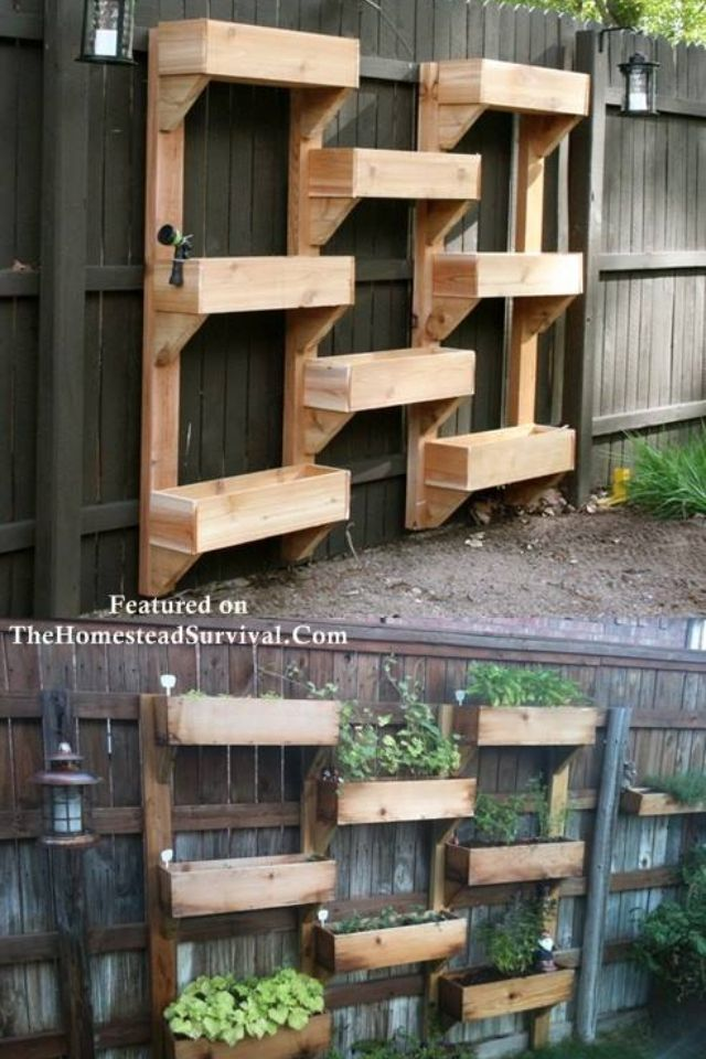 How cool are these garden boxes?!