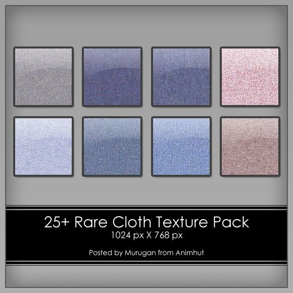 Freebie: 25  Rare Cloth Texture pack