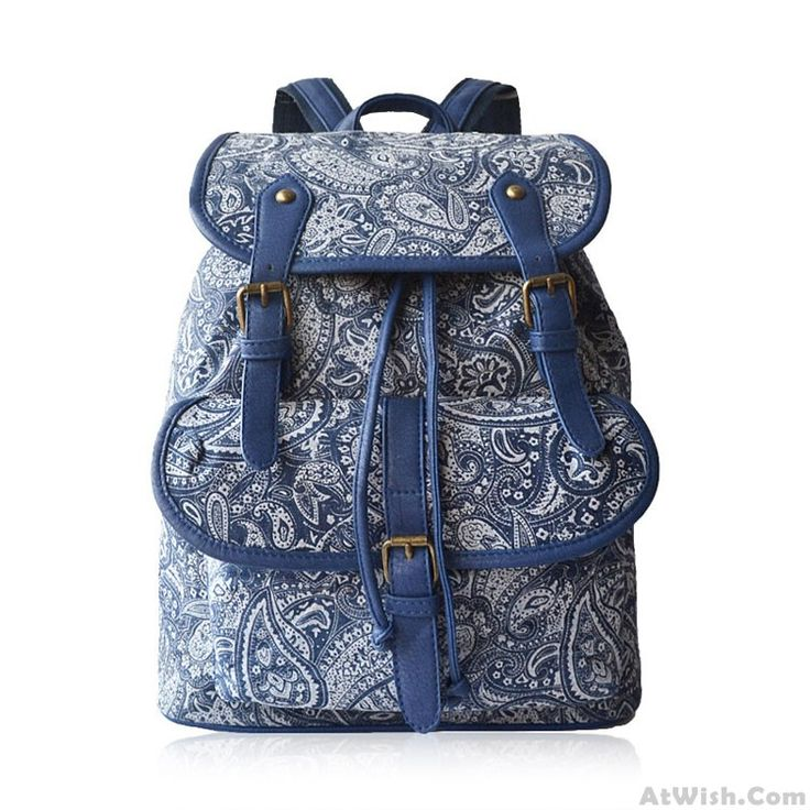 Wow~ Awesome Elegant Retro Fresh Blue And White Chinese Style Cavans Backpack Travel Bag! It only $34.99 at www.AtWish.com! I like it so much<3<3!