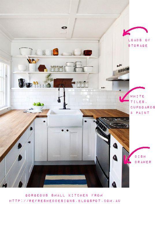 small kitchen ideas  -- lovely!
