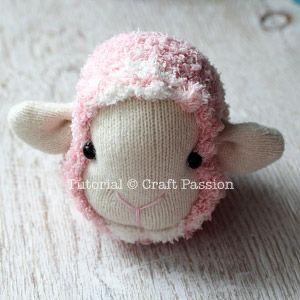 sock sheep full head