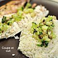 Dorade au four et rougail de concombre