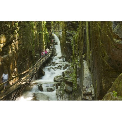 The Flume, Franconia Notch State Park, White Mountains of New Hampshire.