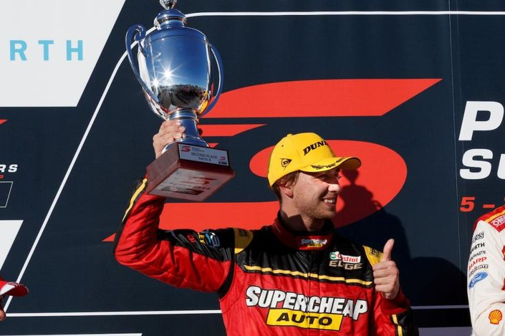 K&N-sponsored Chaz Mostert took second in the Virgin Australia Supercars Championship in Perth