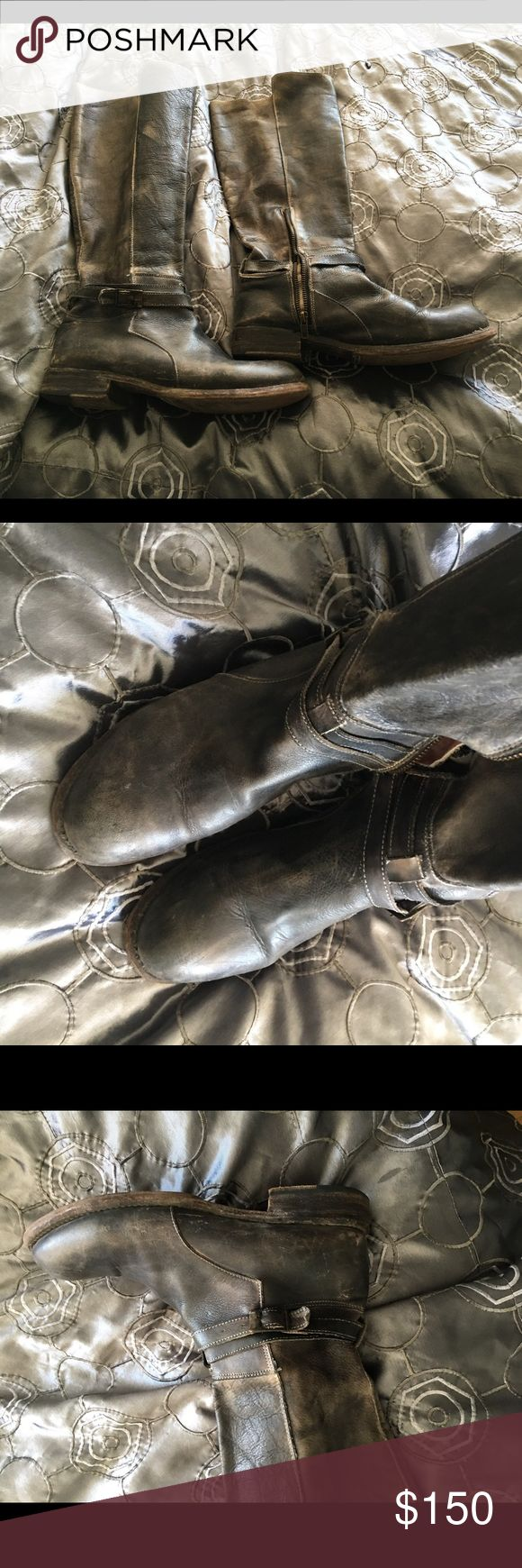 Bed Stu Boots Bed Stu Boots. Size 10. Worn about a dozen times.   These are a worn Grey/black color. In amazing shape!!  These are to the knee. Bed Stu Shoes Combat & Moto Boots