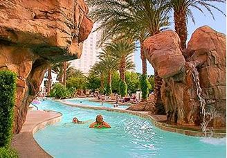Floating down the lazy river at the Monte Carlo pool complex, Las Vegas