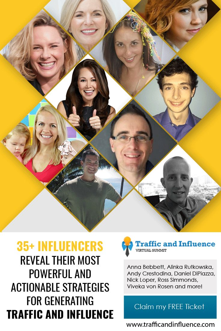 Get more Pinterest traffic! Get your FREE ticket to the Traffic & Influence Summit, where I'll be sharing some of my best tips for driving traffic and generating influence along with 35+ other great speakers. This online summit will teach you:  How to build an audience & drive traffic to your website & more! REGISTER TODAY at https://www.trafficandinfluence.com/idevaffiliate/idevaffiliate.php?id=104  (Affiliate Link) | Pinterest Marketing Expert Anna Bennett Tips + Tricks | Social Media…