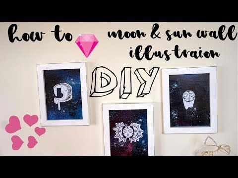 How to make DIY Moon & Sun wall Illustration DecoArt product
