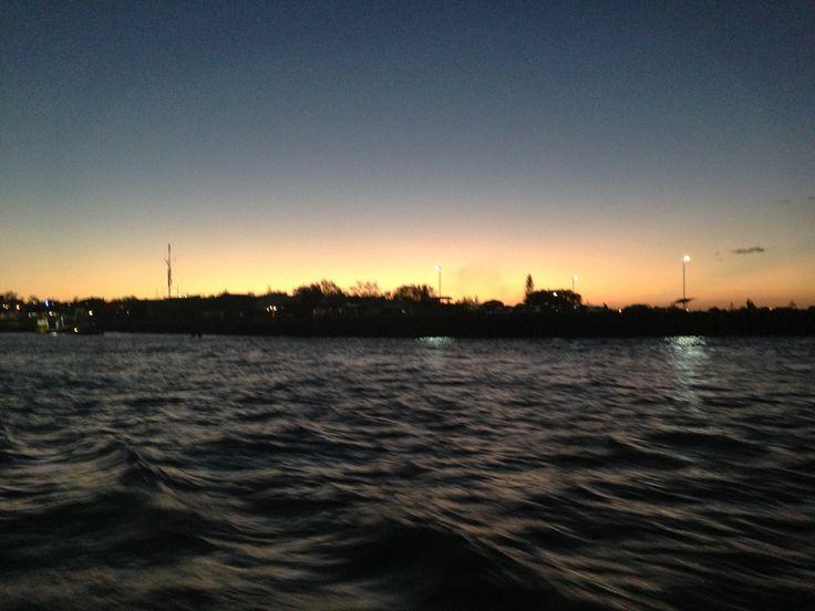 Leaving Manly Harbour at dusk #moretonbay