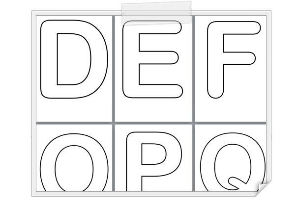 [Maternelle] Alphabet lettres majuscules creuses http://www.iticus.fr/?p=764