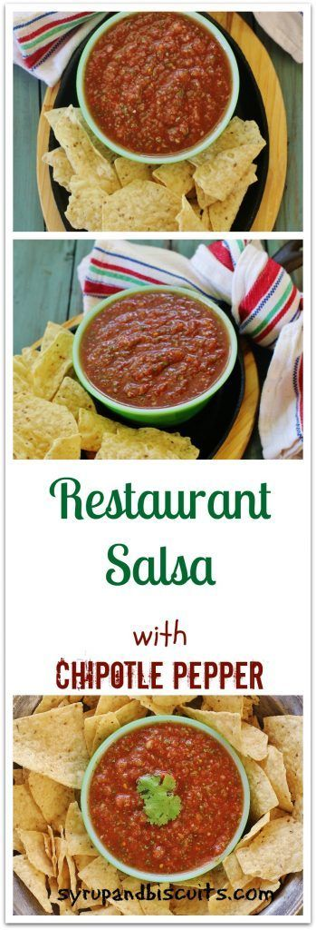 Restaurant Salsa with Chipotle Pepper