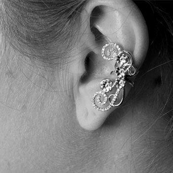 Brinco de Prata com Zircônias Contorno de Orelha (Ear Cuff) - 29408