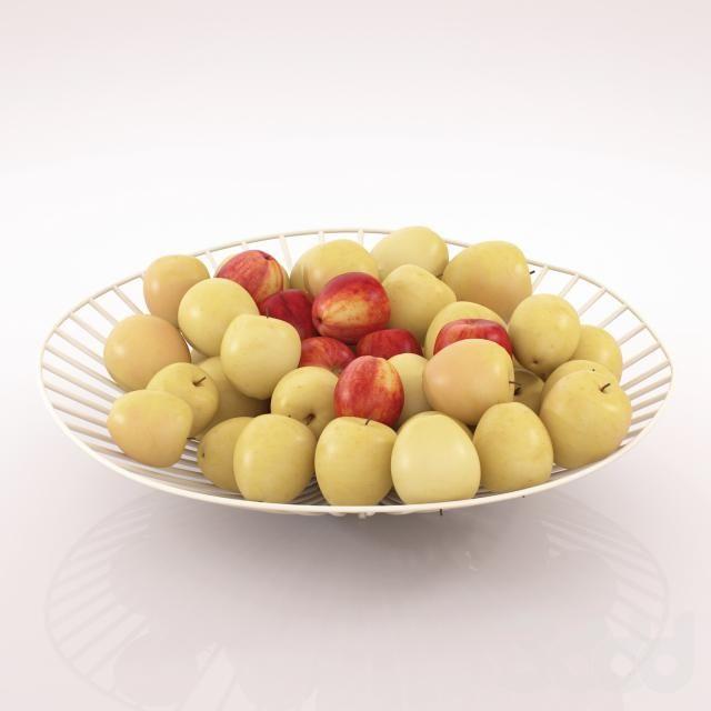 3d модели: Мелочь для кухни - ваза с яблоками