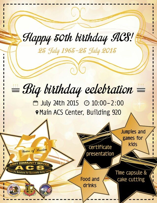 Flyer, birthday, gold, stars