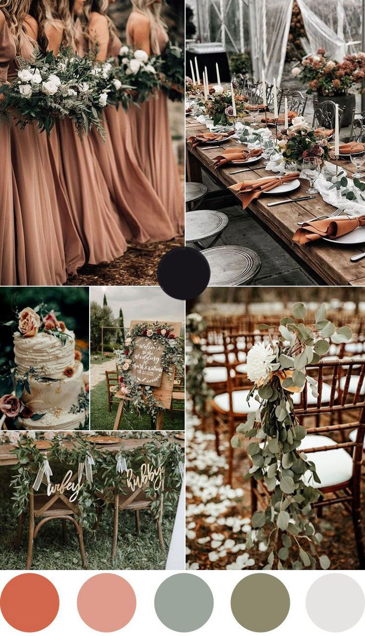 Rust and Greenery Wedding Color in 2020 Winter wedding