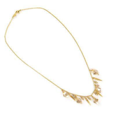 Golden Shadow Spike Necklace - Chan Luu $155