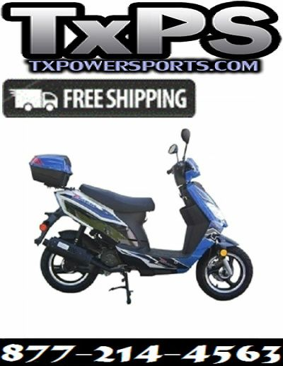 Taotao Thunder 50cc Free Matching Trunk Gas Street Legal Scooter Free Shipping Sale Price: $749.00