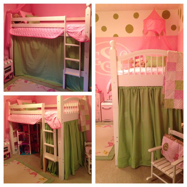 Turned Old Set Of Bunk Beds With Into A Loft Bed With Play