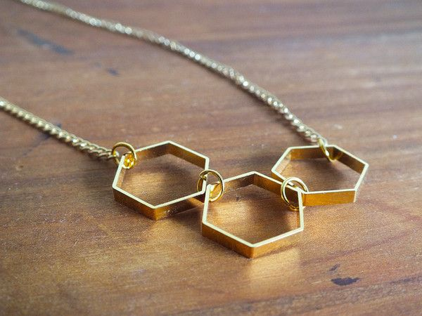 $28 Hexagon necklace detail