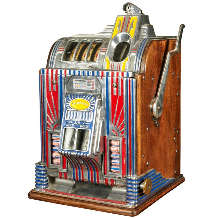 Jennings Art Deco Gambling Machine circa 1933 | From a unique collection of antique and modern toys at http://www.1stdibs.com/furniture/more-furniture-collectibles/toys/