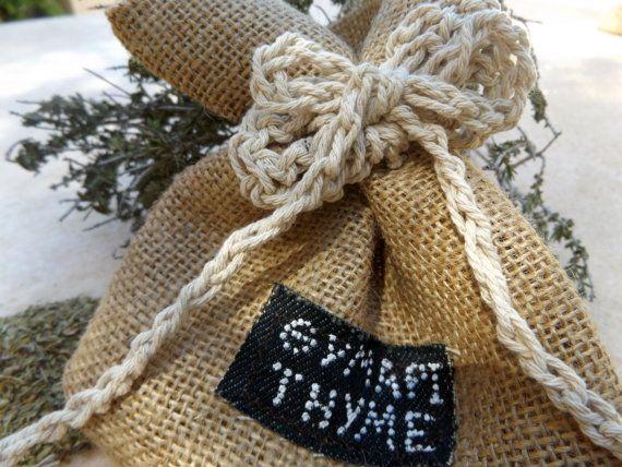 Favor Bag Burlap Wedding Favor Bags Custom Bag Burlap by CRAZYBOOM