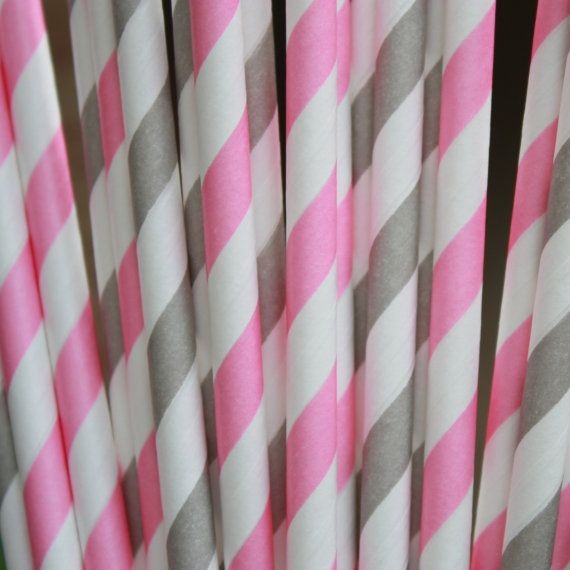 70 best baby shower images on pinterest gray chevron grey pink and grey party paper straws with diy by glitterdaisyshop gumiabroncs Images