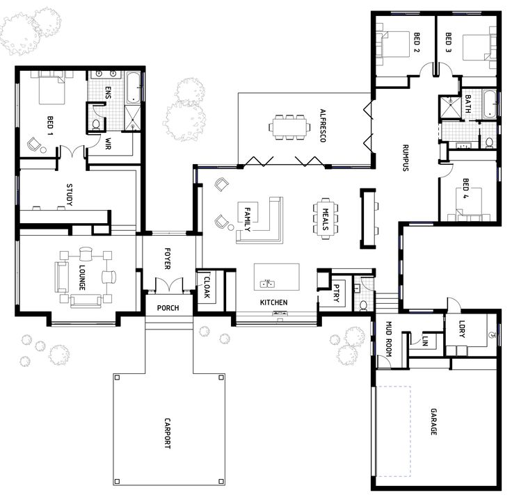 Floor Plan Friday Designer And Spacious Family Home Interesting Concept