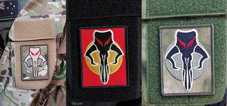 Star Wars. The Fett Embroidered Velcro Morale Patch.  Made In Australia.
