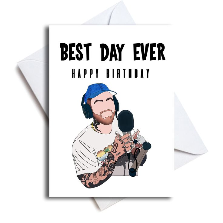 Mac Miller Birthday Card Etsy Cool Birthday Cards Birthday Cards Mac Miller