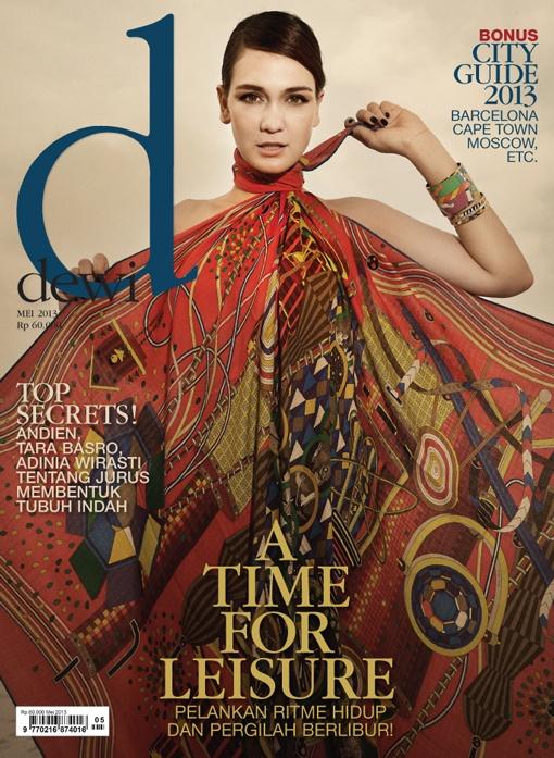 May 2013,     Model: Luna Maya,   Photographer: Marsio Juwono, Stylist: Karin Wijaya,  Make Up & Hair do: Qiqi Franky, Wardrobe: Hermes