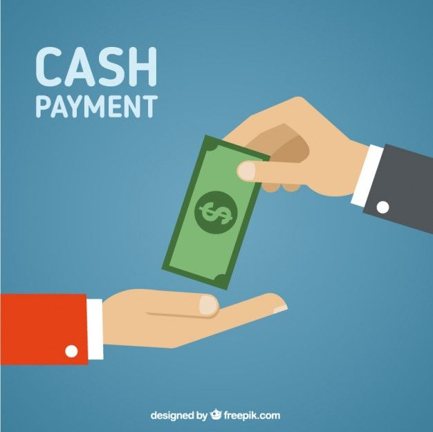 Cash payment Free Vector