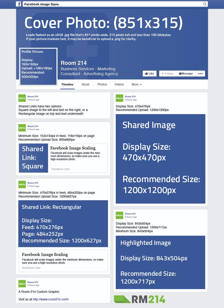 Recommended dimensions for Facebook images   Facebook ...