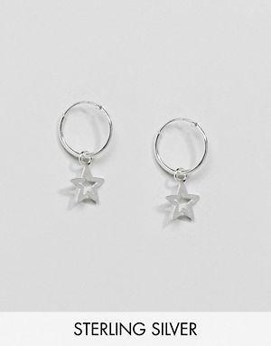 Kingsley Ryan Sterling Silver Star Drop Hoop Earrings Zhoos In 2018 Pinterest Scarf Hat Hosiery And Asos
