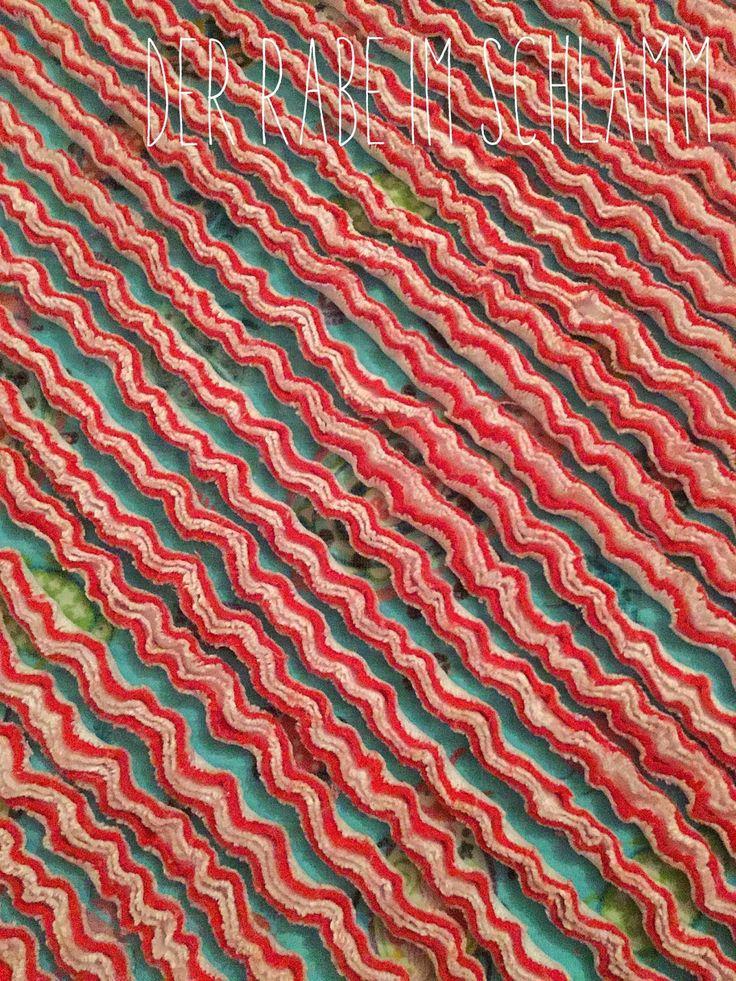 Der Rabe im Schlamm: Chenille Decke mit Anleitung